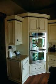 amish built kitchen cabinets built in corner cabinet double oven corner cabinet built in corner