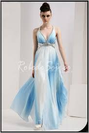 robes soirã e mariage bleu ciel snap fermé taille pendaison cou robes de soirée robe