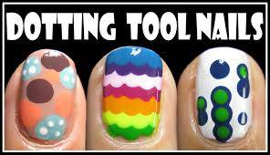 3 easy dotting tool nail art designs how to rainbow short nails
