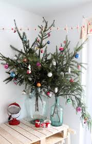 christmas branch trees christmas lights decoration christmas tree branches bouquet in vase as tree