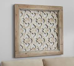 hempstead carved wood wall panel pottery barn with regard to