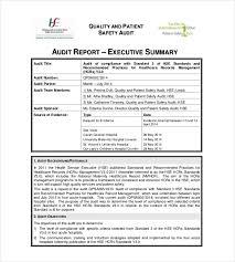 summary report templates 9 free sle exle format