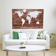 wood world map wall large wall map