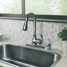 Kitchen Sink And Faucets by Furniture Nice Brushed Nickel Moen Faucets With Curved Neck For
