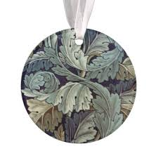 william morris acanthus ornaments keepsake ornaments zazzle