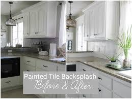 painting ceramic tile kitchen backsplash modern interior design