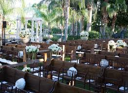 Church Benches Used Ceremony Décor Photos Outdoor Ceremony With Pews U0026 Chairs