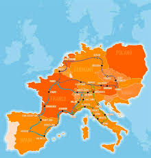 Map Of East And West Germany by Explore Europe With The Busabout Hop On Hop Off Coach Pass