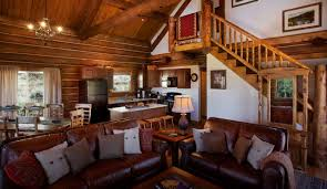 decorations small country house with wood logs wall and mini