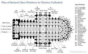 gothic cathedral floor plan plan of stained glass windows in chartres cathedral in france i