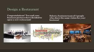 business entrepreneur project restaurant business planlesson by 3 design a restaurant congratulations