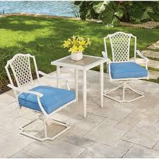 hampton bay alveranda 3 piece metal outdoor bistro set with