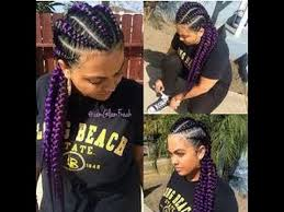 cornrow hairstyles for black women with part in the middle best jumbo cornrow hairstyles for black women youtube