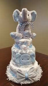 baby boy elephant diaper cake baby shower gift centerpiece diaper