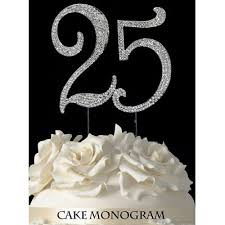 25 cake topper stylish design 25th anniversary cake topper trendy 25th