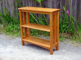 Cherry Bookcase With Glass Doors by Voorhees Craftsman Mission Oak Furniture Bookcases