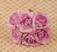 Make Your Own Paper Flowers - artificial mini paper roses mulberry paper flowers bouquets diy