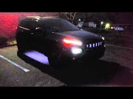 jeep cherokee lights 2015 jeep cherokee led approach lighting youtube