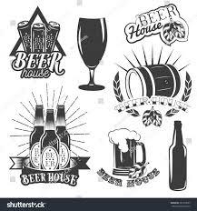 vintage martini clipart vector set beer brewing labels vintage stock vector 381333583