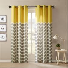 Yellow And Grey Window Curtains Grey And Yellow Chevron Window Curtains Curtain Rods And Window