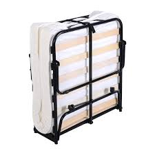 Collapsible Bed Frame Folding Bed With Foam Mattress Casters Beds U0026 Bed Frames