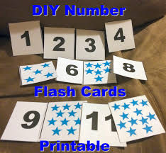 first time mom and losing it diy number flash cards for toddlers