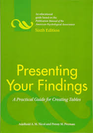 presenting your findings a practical guide for creating tables