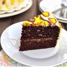 eggless orange chocolate cake with orange cream cheese buttercream