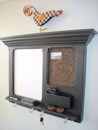kitchen message center ideas wall mail organizer fitzwoodys furniture wood framed cork