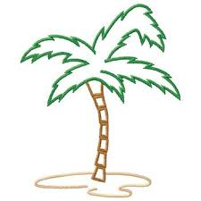 palm tree outline embroidery design annthegran
