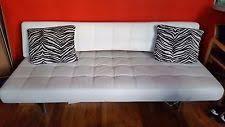 White Leather Sleeper Sofa Leather Sleeper Sofa Ebay