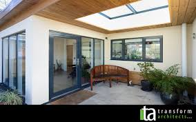 eco bungalow with external glazed rooflight porch u2013 transform