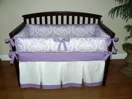 Lilac Damask Crib Bedding Lavender Linens Crib Bedding Glamorous Bedroom Design