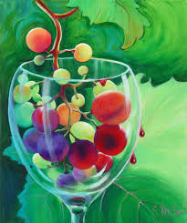 themed paintings sandi whetzel s contemporary wine themed paintings