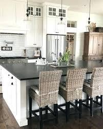 ideas for kitchen design white cabinets with black granite kitchen black and white