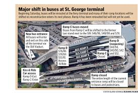 Staten Island Bus Map Bus Ramps Shuffled At The Staten Island Ferry Terminal Again