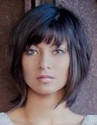 sliced layered chin lengt bob with bangs choose an elegant waterfall hairstyle for your next event hair