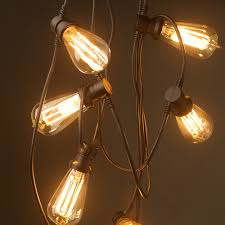 Bulb Lights String by Vintage Edison 20 Bulb Party Lighting 240v Complete With 20 E27
