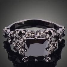 weeding ring black rhodium plated princess wedding ring the copper rivet