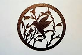 Amazon Hummingbird and Flowers Metal Wall Art Home and Garden