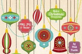 vintage christmas ornaments illustrations creative market