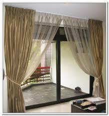 Sheer Door Curtains Inspiring Sheer Curtains For Sliding Glass Doors 17 In Modern Home