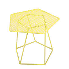 Wire Side Table Fantastic Yellow Metal Side Table With Metal Wire Coffee Table