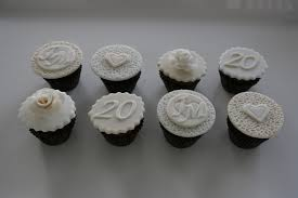 20th wedding anniversary ideas baked by design 20th wedding anniversary cupcakes