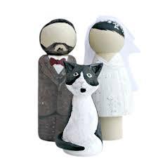cat wedding cake topper groom and cat wedding cake topper peg doll lotty lollipop