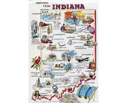 Indiana Map Usa by Silicon Maps Promotional Industry Maps For High Tech And Biotech