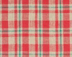 plaid table cloth etsy