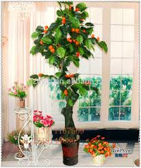 artificial green fruit tree mini artificial orange potted big