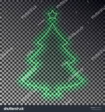 green neon christmas tree star isolated stock vector 717668347
