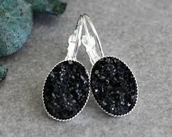 Chandelier Earrings Etsy Black Druzy Earrings Etsy